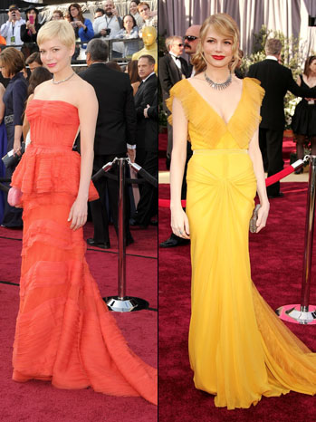 Oscar Fashion Nominee Michelle Williams Launches A 2012 Coral Color Craze Poll Hollywood Reporter