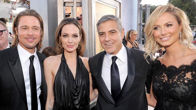 2012-05 CARPET Brad Pitt Angelina Jolie George Clooney Stacy Kiebler H