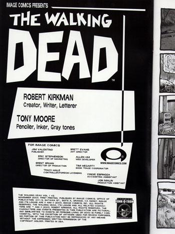 Original Walking Dead Cover Art - P 2012