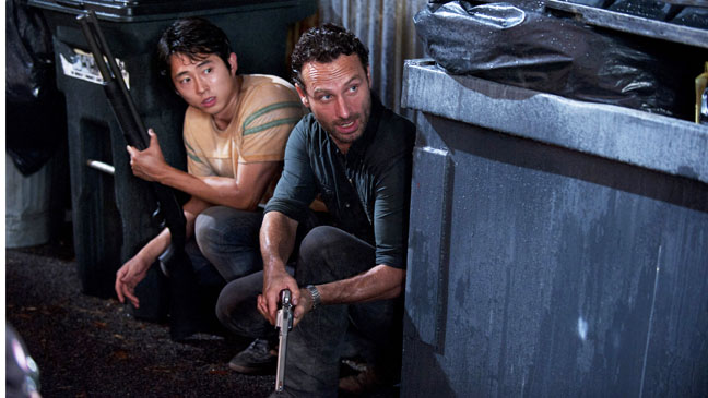 The Walking Dead EP 209 Steven Yeun Andrew Lincoln - H 2012