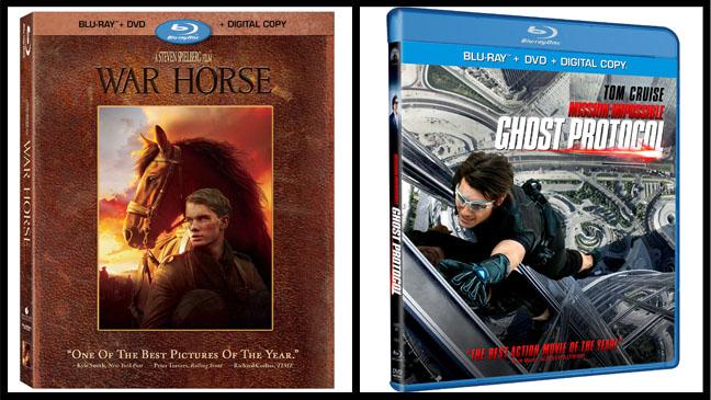 War Horse Ghost Protocol Blu-Ray Split - H 2012