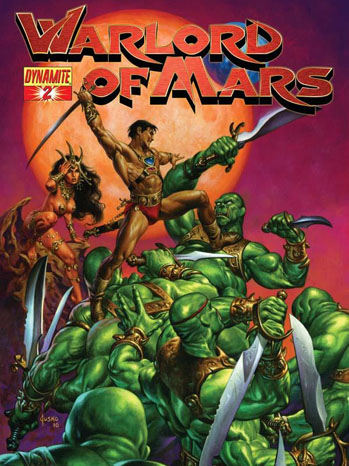 Warlords of Mars Comic Book Cover - P 2012