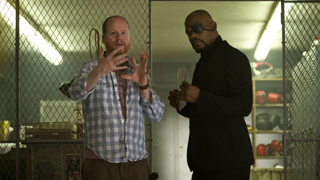 Joss Whedon and Samuel L. Jackson