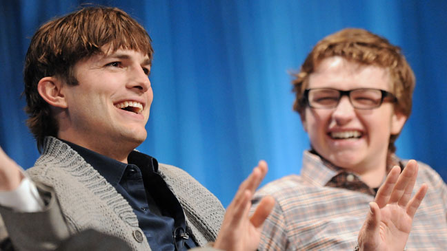 Ashton Kutcher and Angus T. Jones