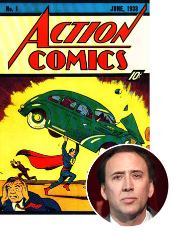 Actions Comics #1 Superman Nicolas Cage - P 2012
