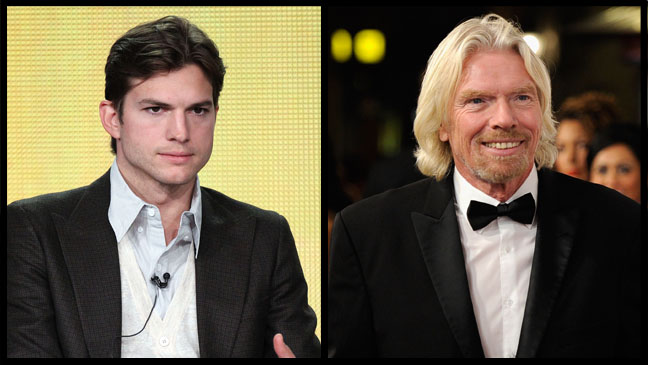 Ashton Kutcher Richard Branson - H 2012