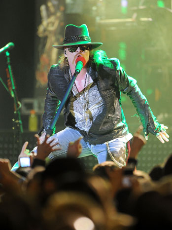Axl Rose Guns 'n' Roses Hollywood Palladium - P 2012