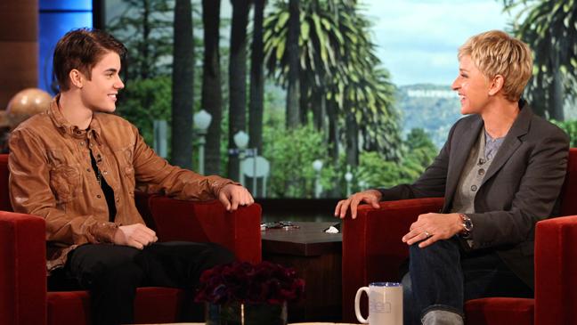 Justin Bieber Ellen DeGeneres - H 2012