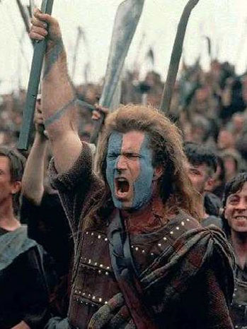 Mel Gibson Sir William Wallace Braveheart - P 2012