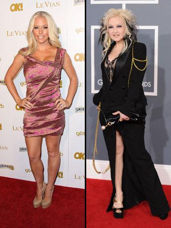 Cyndi Lauper Kendra Wilkinson Split - P 2012