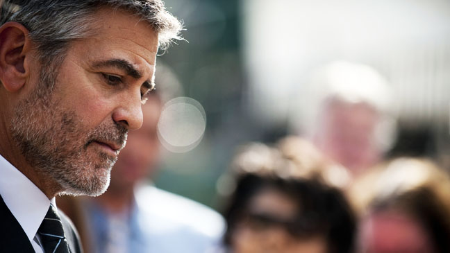 George Clooney Sudan DC Protest - H 2012