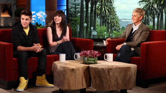 Justin Bieber Carly Rae Jepsen Ellen DeGeneres Show - H 2012