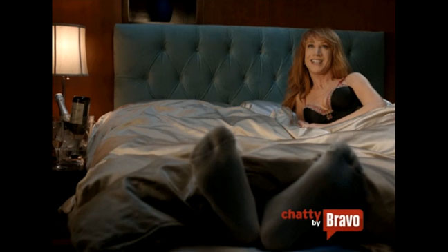 Kathy Griffin Chatty Bravo Bed Screen Grab - H 2012