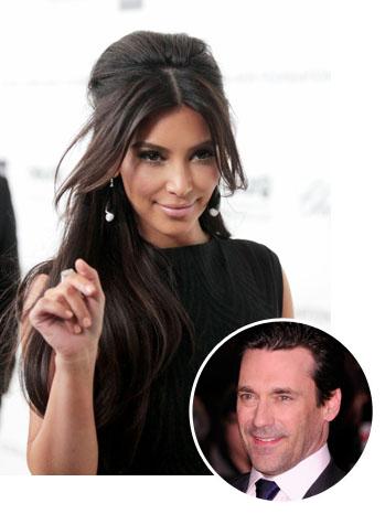 Kim Kardashian Jon Hamm Bubble Split - P 2012