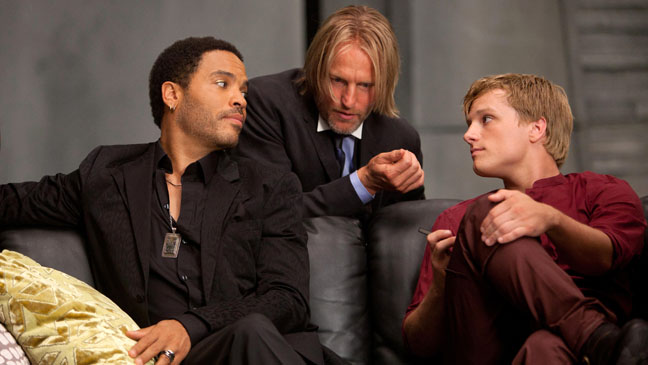 Lenny Kravitz Woddy Harrelson Josh Hutcherson Hunger Games - H 2012