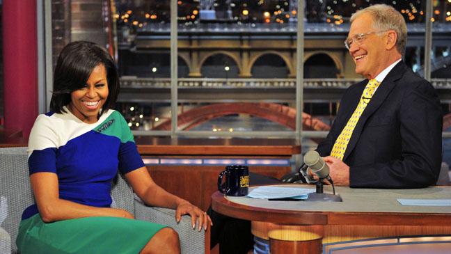 Michelle Obama David Letterman - H 2012