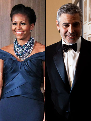 Michelle Obama George Clooney Split - P 2012