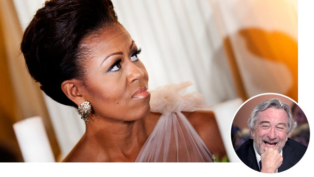 Michelle Obama Robert Dinero Inset - H 2012