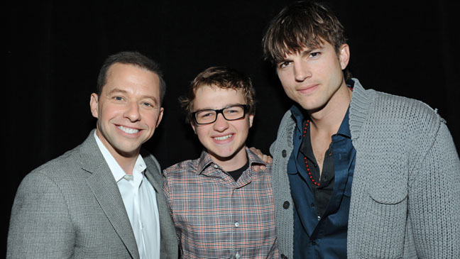 Jon Cryer, Angus T. Jones and Ashton Kutcher