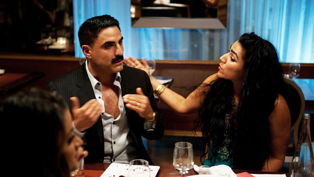 Shahs of Sunset Reza and Asa Fighting at Dinner - H 2012