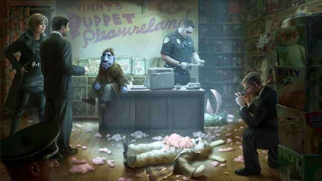 Vinny's Puppet Illustration Scene - H 2012