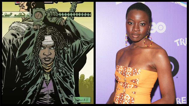 Walking Dead Michonne Actress Danai Gurira Split - H 2012