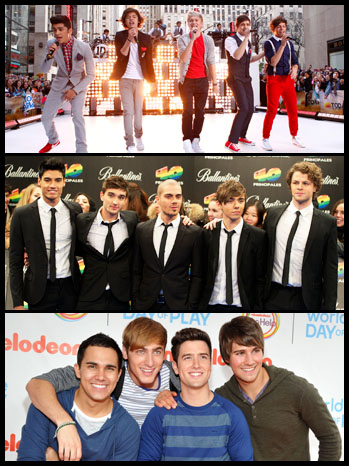 One Direction Big Time Rush The Wanted split - P 2012