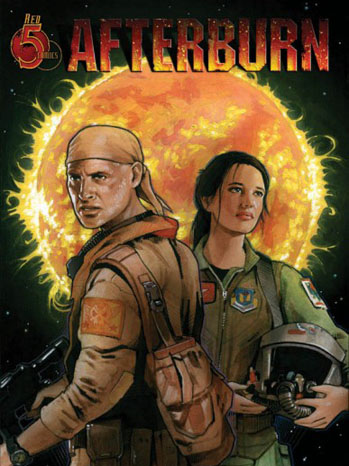 Afterburn Comic Book Cover Art - P 2012