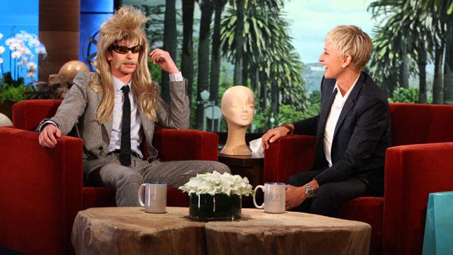 Ellen Checks for Bulges on Andrew Garfields Spidey Suit