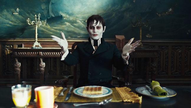 Dark Shadows Johnny Depp at Table - H 2012