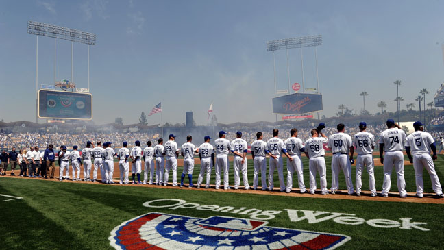 Los Angeles Dodgers Home Opener - H 2012