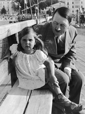 Adolf Hitler and Helga Goebbels