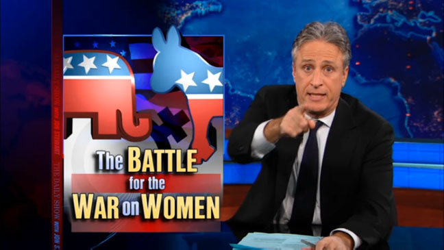 Jon Stewart War on Women Screen Grab - H 2012