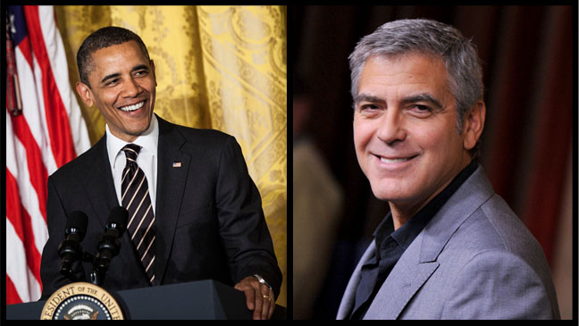 Barack Obama George Clooney Split - H 2012