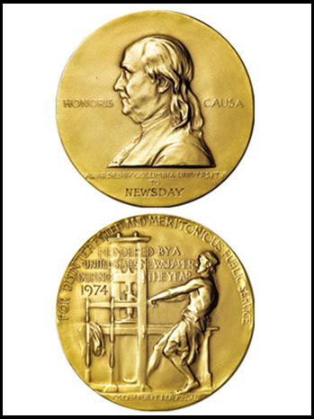 Pulitzer Prize Medals - P 2012