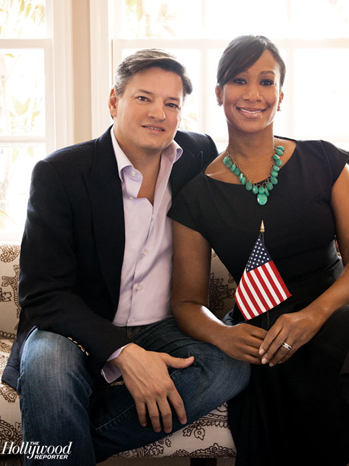 Ted Sarandos avec amicale, femme Nicole Avant