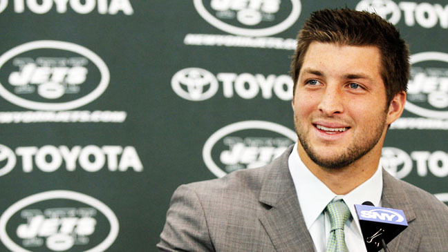 Tim Tebow NY Jets announcement - H 2012