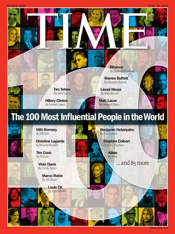 Time Magazine 100 Most Influential People Cover - P 2012