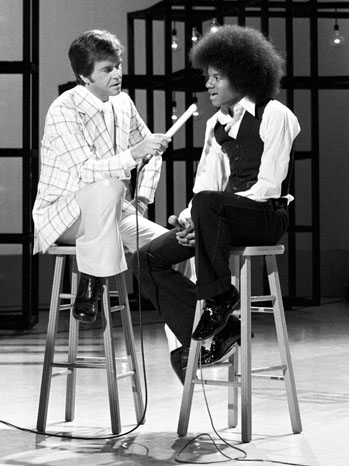Michael Jackson and Dick Clark