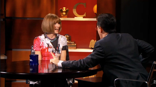 Colbert Report Anna Wintour Screengrab - H 2012