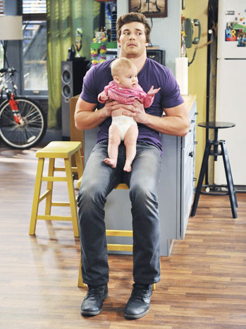 Baby Daddy Holding Baby - P 2012
