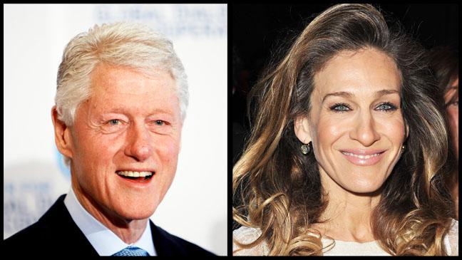 Bill Clinton Sarah Jessica Parker Split - H 2012