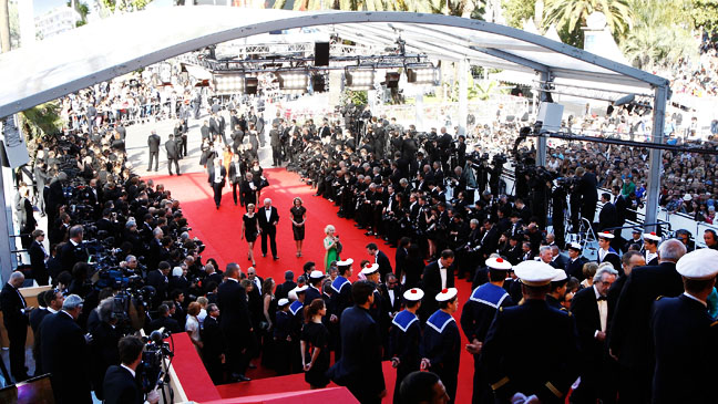 Scene at Cannes 65 Red Carpet Exterior - H 2012