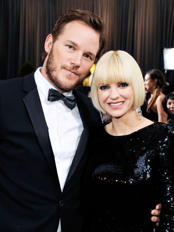 84th Oscars Chris Pratt Anna Faris Red Carpet - P 2012