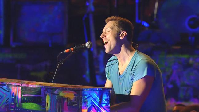 Coldplay Chris Martin Hollywood Bowl L