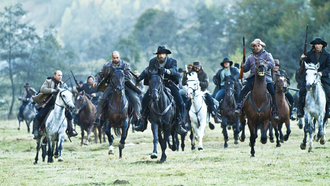 Hatfields and McCoys Group on Horses - H 2012