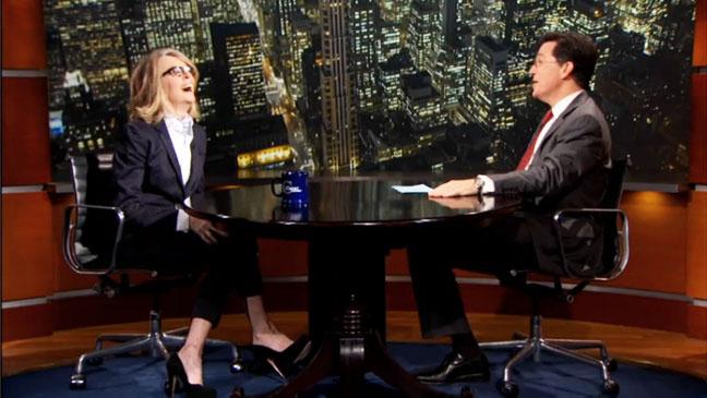 Stephen Colbert Diane Keaton Screengrab - H 2012