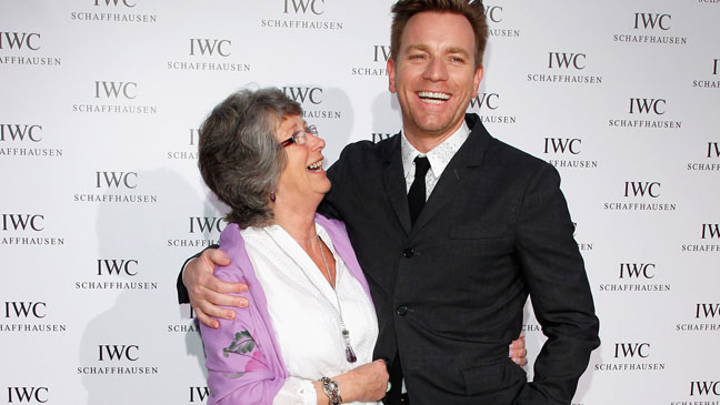Ewan McGregor and Mom H Cannes 2012