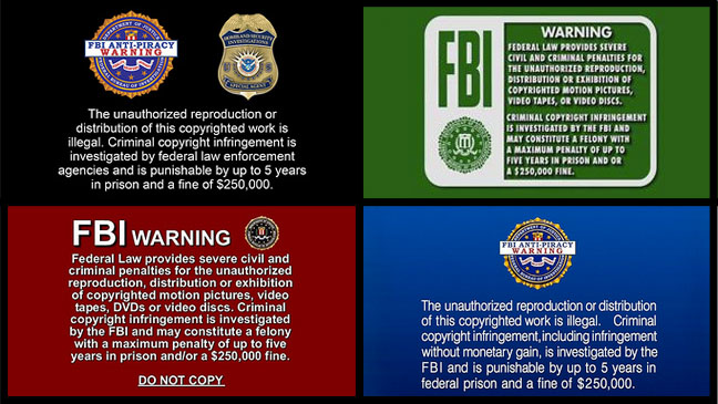 FBI Anti-Piracy Warnings - H 2012