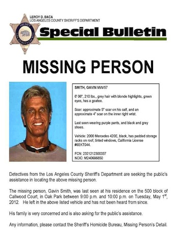 Gavin Smith Missing P 2012
